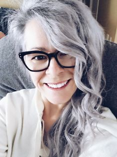 White Hair, Blue Hair, Grey Hair Inspiration, Long Gray Hair, Bohemian Hairstyles, Ageless Beauty, Going Gray, Silver Lining, Aging Gracefully