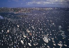 The Bicentennial First Fleet re-enactment - Sydney Harbour Australia Day 1988 Greeted by 3 million spectators, 10 years in the organising. Till this day - Australia's largest live event
