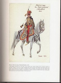Command and staff: Plate 10: Aide-de-Camp of Marshal Berthier, 1810.