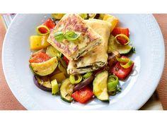 Vegetarisches Rezept: Quarkplätzchen im Brickteig mit Schmorgemüse