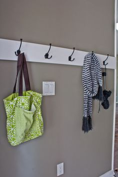 Cheap & easy coat hanger. Been wanting to do this just not sure how until now!