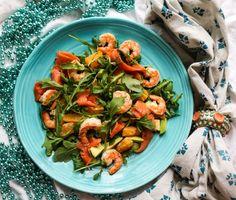 Smoked Salmon Shrimp Mandarin Salad|Havocinthekitchen.com