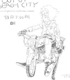 "Pearl in the promo art for ""last one out of beach city"""
