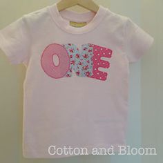 1st birthday top, Age one pink t-shirt, girls floral birthday, kids birthday top