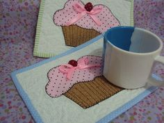 Mug rugs (porta tazas)