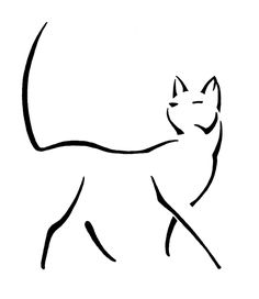 This is one of my favorite line cat drawings. I have done more line cats than any other animal, so I have several poses that worked out well.