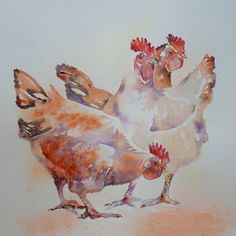 Chicken trio | by lizchaderton