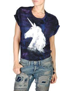Short sleeves Women T-STARDUST - T's & tops Women on Diesel Online Store - StyleSays