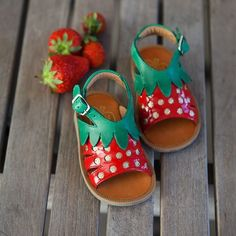 kids' strawberry sandals