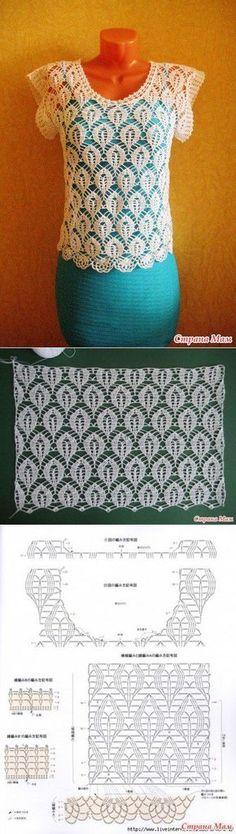 Ideas Crochet Skirt Diagram Charts Posts For 2019 Crochet Dress Girl, Crochet Woman, Crochet Blouse, Crochet Clothes, Crochet Stitches Patterns, Crochet Designs, Irish Crochet, Crochet Lace, Crochet Tops