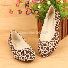 New 2014 top fashion women flats casual flat shoes women boat shoes female leopard printing canvas shoes summer ballet flats #Affiliate
