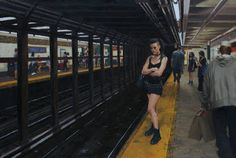 "Saatchi Art Artist Vincent Giarrano; Painting, ""Waiting for the L Train"" #art"
