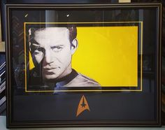 Check out these custom framed #StarTrek Limited Edition prints we just completed! For these, we cut an open v-groove into the metallic matting, and we even cut the Star Trek logo into the matting as well! Come see why we're Denver's most trusted and creative framers! #art #pictureframing #customframing #denver #colorado #spock