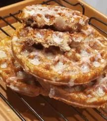 This Krispy Kreme COPYCAT Chaffle Recipe (Glazed Raspberry Jelly Filled Donut) is worth every bit of effort it takes to make! It's a low carb dessert treat you will love! Low Carb Sweets, Low Carb Desserts, Low Carb Recipes, Waffle Maker Recipes, Donut Recipes, Dessert Recipes, Dessert Ideas, Brunch Recipes, Breakfast Recipes