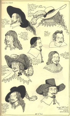 17th century hats and hairstyles photo by Idzit. This might come in handy as reference if our doing something involving seventeenth century dress.