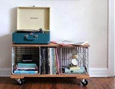 A Record Cabinet Crafted from Milk Crates — A Beautiful Mess