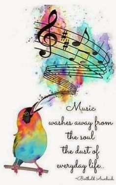 Music Washes Away From the Soul...
