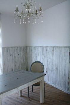 wood panel for half wall | wall paneling makeover