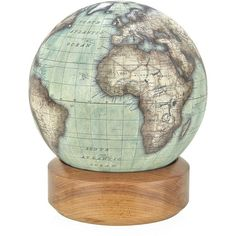Bellerby Mini Desk Globe with Wood Base found on Polyvore