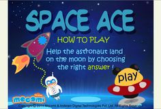 Space Ace - #Educationalgames for kids such as space ace tests your kid's knowledge by throwing some #GK questions out in space for your little ones to answer. For more interacting #game for #kids, visit: http://mocomi.com/fun/games/