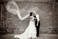 12 West Main has the beautiful brick walls that make the perfect backdrop for edgy & elegant wedding photos!