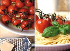 Pasta mit karamellisierten Cherry-Tomaten