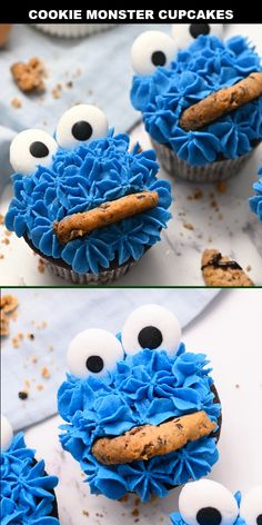 cake decorating videos These cute cookie monster cupcakes would be perfect at a Sesame Street birthday party! They are made from scratch BUT this recipe is super fun and easy to Sesame Street Birthday Cakes, Sesame Street Cupcakes, Sesame Street Party, Sesame Street Food, Sesame Street Signs, Sesame Street Cookies, Festa Cookie Monster, Cookie Monster Cupcakes, Monsters Inc Cupcakes