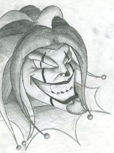 Evil Jester Drawings | clowns are scary by iampo0p traditional art drawings other 2006 2013 ...