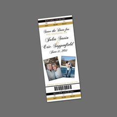 Ticket/sport themed save the date sports save the dates, baseball save the dates #wedding #sports