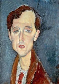 'Portrait of Franz Hellens' by Amedeo Modigliani (1919)
