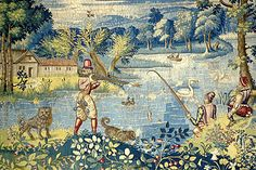 """Created by the Sheldons of Beoley in Warwickshire, England. These beautiful tapestries are mainly maps and details of life in 16th century """"middle england"""""""
