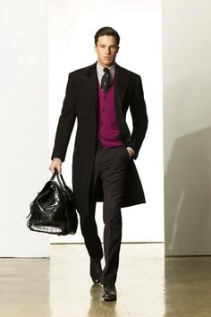 Fuschia Vest on Black - Ralph Lauren F/W 2009 New York's Mercedes-Benz Fashion Week