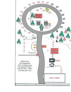 RV Park Fort Bragg California Hidden Pines Campground
