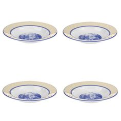 Spode - 'Giallo' Collection, Earthenware - Rimmed Soup Bowls, s/4
