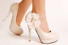 Same shoes in White. Google Image Result for http://www.fashionwomenchina.com/images/pink%2520wedding%2520shoes/2012%2520Spring%2520Summer%2520Korean%2520Edition%2520Pink%2520Bridal%2520Bridesmaid%2520High%2520Cone%2520Heel%2520%2520Satin%2520Flower%2520Closed%2520Toe%2520Wedding%2520Shoes_13.jpg