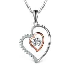 """""""Inner Heart""""  Necklace  If my heart is big enough to hold yours Will you love me again?  Watch this item on Amazon http://www.amazon.com/dp/B01EUVDK3I/ref=sr_1_1?ie=UTF8&keywords=women+gift  Enjoy the discount on October 30th 12:10 PM PDT - 4:10 PM"""
