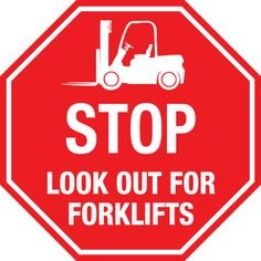 FORKLIFT OPERATING IN AREA SIGN 300X200 SAFETY DANGER FORKLIFTS SIGN
