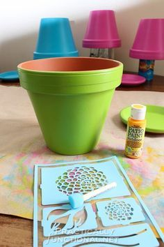 How To Seal Painted Flower Pots - Ready to stencil!