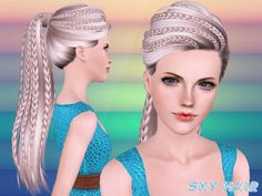 hair, skysims, hairstyle,long  Found in TSR Category 'Female Sims 3 Hairstyles'