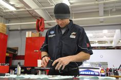 Meet No. 88 rear-tire changer Joe Slingerland. He also works in the Nos. 48/88 shop during the week.