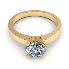 Aurella - Yellow gold - 0.35CT round cut diamonds solitaire ring, £620.99 (http://www.aurella.co/yellow-gold-0-35ct-round-cut-diamonds-solitaire-ring/)
