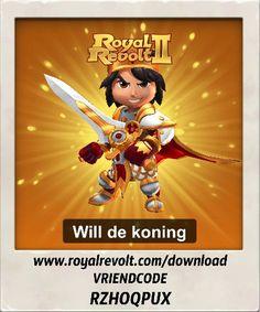 Bouw je eigen koninkrijk en leid je leger naar de overwinning! https://youtu.be/QWxj-qPPncY  Download Royal Revolt 2 op je mobiele apparaat: www.royalrevolt.com/download    Start het spel en ontvang een EPISCHE beloning door deze vriendcode in te vullen: RZHOQPUX