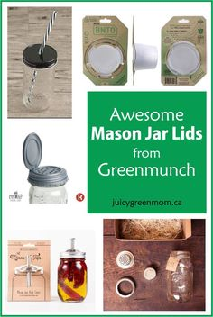 Turn a #masonjar into virtually anything you want with these mason jar lids from @Greenmunch!