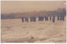 WWI, 11 Feb 1917; The frozen River Loire, France