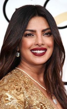 Priyanka Chopra from 2017 Golden Globes' Best Beauty Looks  The actress gave her look a sexed-up vibe with crimson lips and sultry eyes.