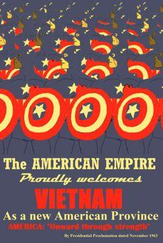 Poster A3 Captain America Vietnam WAR USA Propaganda BY Nick Perks | eBay 1