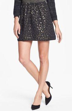 Black Skirt with Metallic Print.