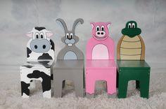 iChart Дети Четыре Набор стульев - Safari аминальные Theme - Детская мебель