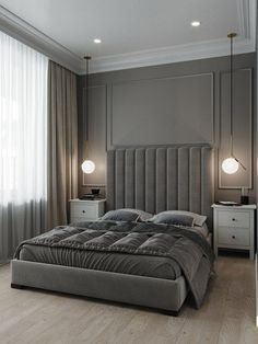 Design your life to suit your style perfectly. Mid-Century Bedroom Decor Tips & Tricks to Make This Bedroom Decor Last You Seasons and Seasons. Decorating a bedroom decor might be one of the biggest hardship Luxury Bedroom Design, Bedroom Bed Design, Luxury Interior Design, Luxury Home Decor, Home Interior, Home Decor Bedroom, Home Design, Bedroom Ideas, Diy Bedroom