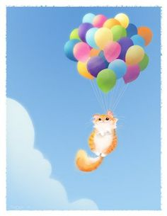 Cat Painting by Brittney Lee, inspired by UP!